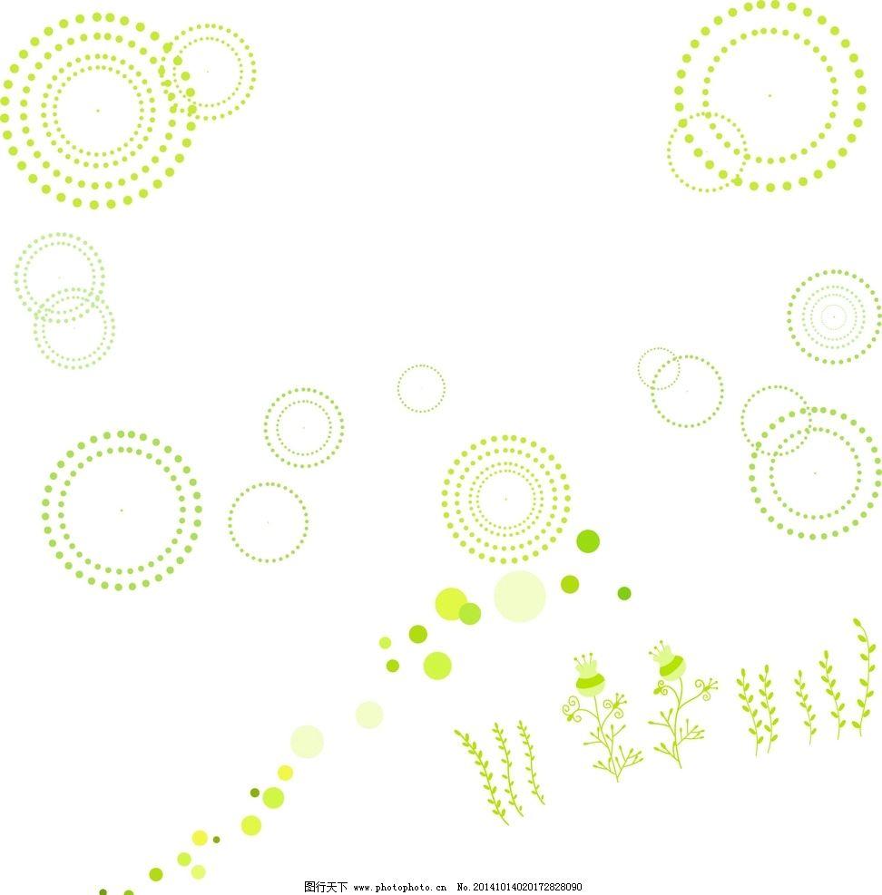 绿色圆圈素材图片