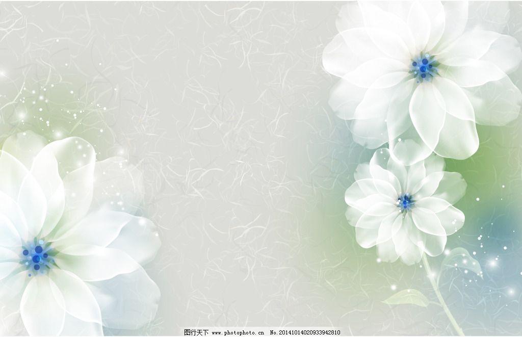 梦幻花朵壁画_背景图片