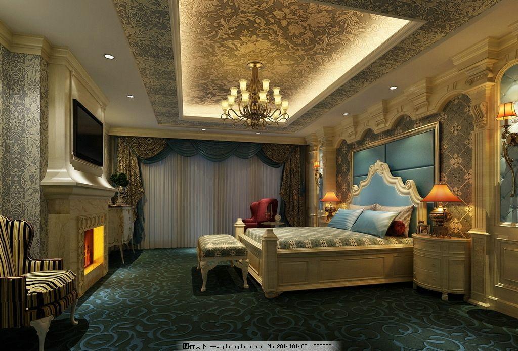 欧式卧室 室内 装潢 工装 家装 室内设计 建筑 时尚家装 室内模型
