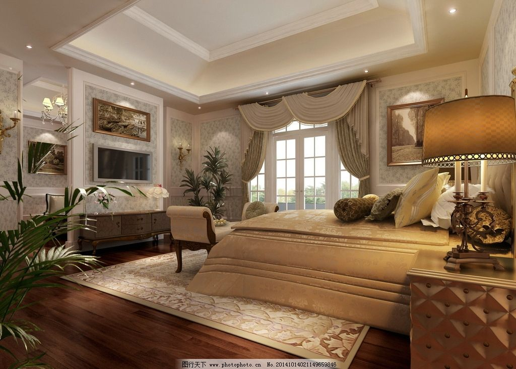 欧式卧室图片,室内 装潢 工装 家装 室内设计 建筑-图