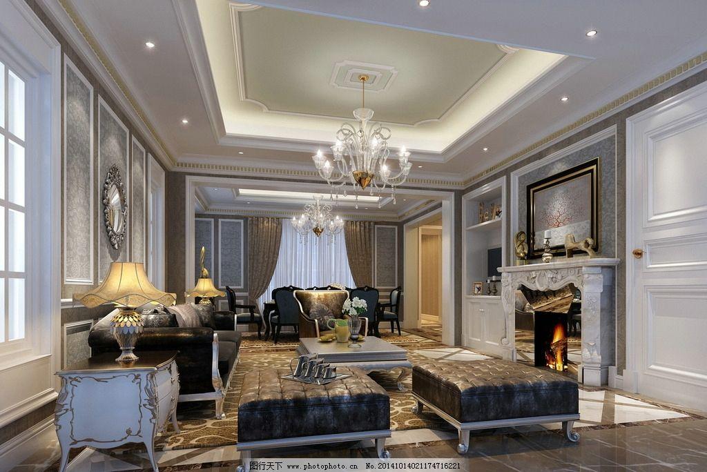欧式客厅 室内 装潢 工装 家装 室内设计 建筑 卧室 时尚家装