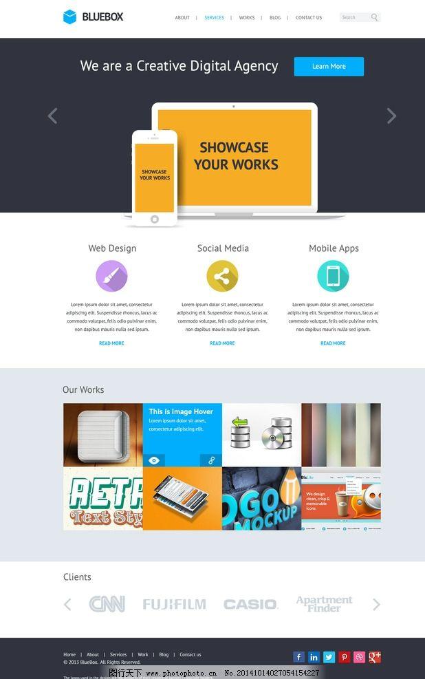 扁平化页面设计图片_数码产品_现代科技_图行天下图库