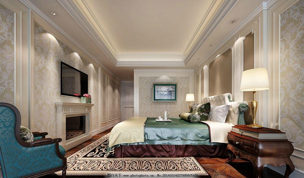 住宅 家居        装修 清新卧室 田园风格 主卧 主人房 睡房 设计