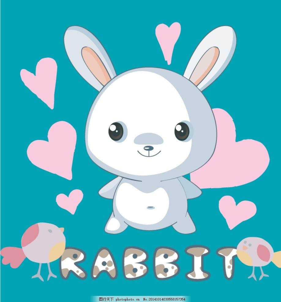 卡通小白兔 萌萌兔子