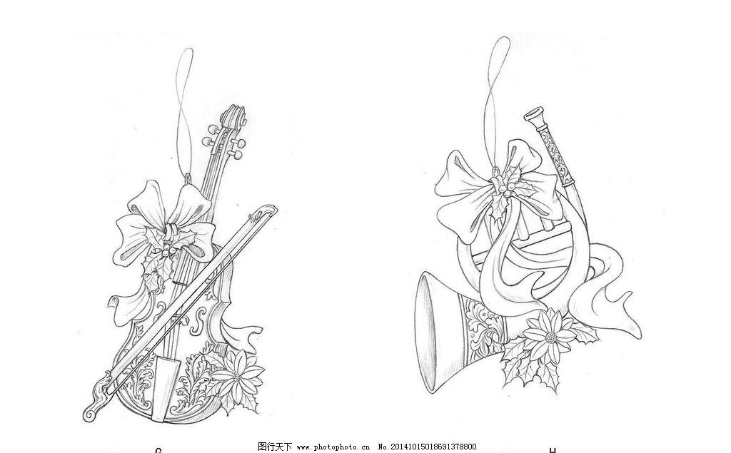 圣诞 礼品 设计 手绘 摆件 乐器 设计 动漫动画 其他 150dpi jpg