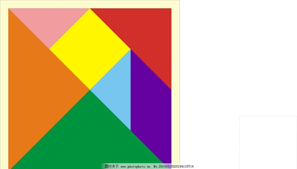 彩色 卡通 形状 七巧板 拼板 设计 标志图标 其他图标 cdr图片