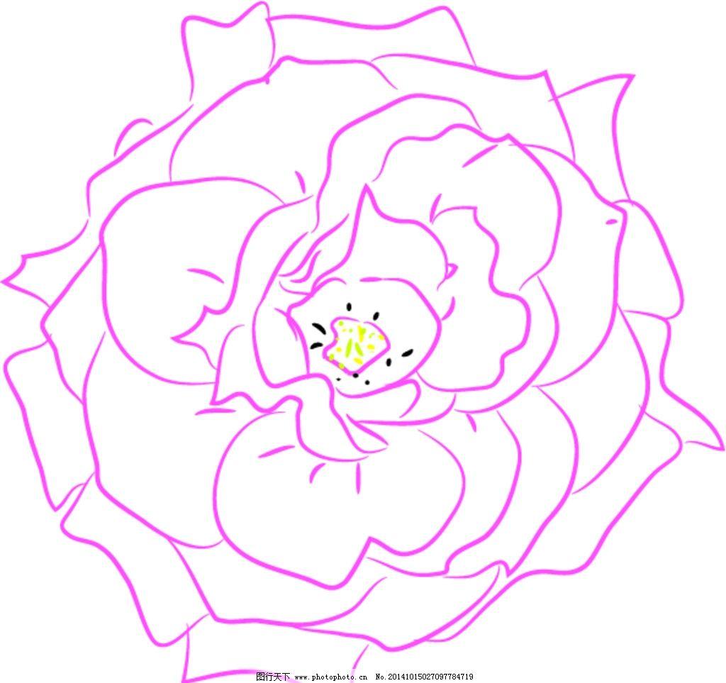 玫瑰花矢量图图片