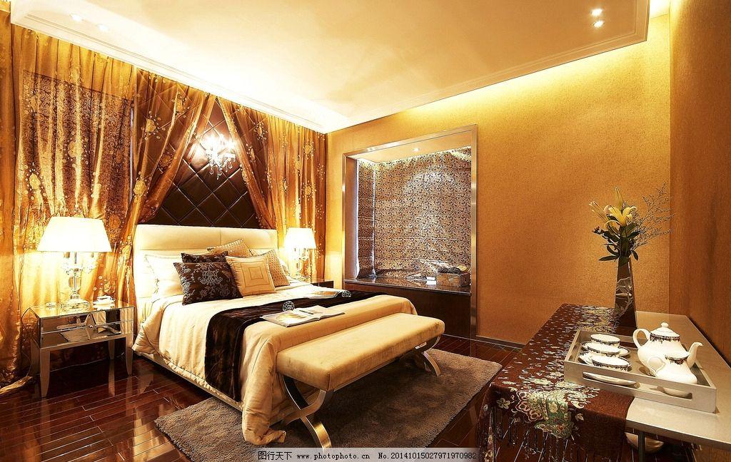欧式酒店客房效果图地板