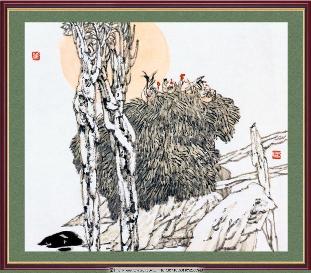 山水国画素材免费下载 国画 山水 山水画 树木 山水画 国画 山水 树木