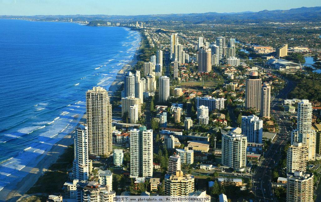 城市高楼 城市 城市建筑 城市傍晚 航拍 俯拍 海边 大海 鸟瞰 城市