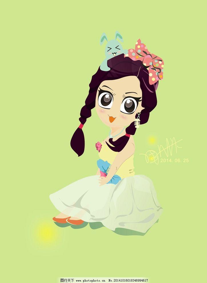 漫画 卡通 少女 可爱 手绘 鼠绘 色彩 设计 动漫动画 动漫人物 236dpi