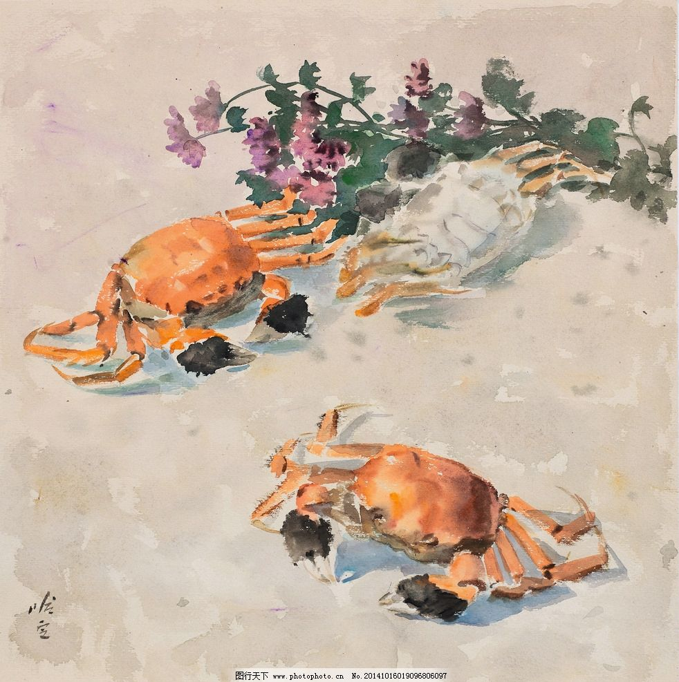 国画螃蟹的画法步骤