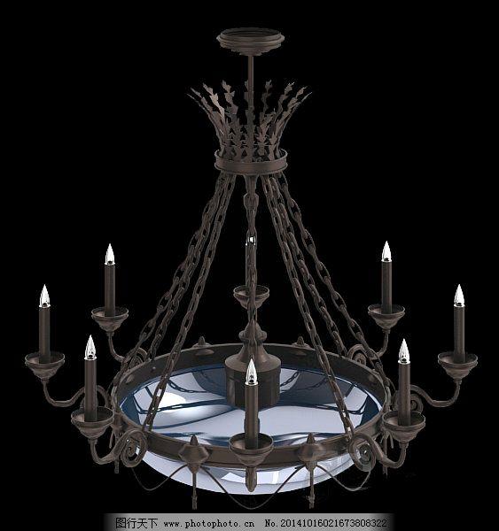 欧式 欧式吊灯 铁艺 欧式吊灯 3d模型 吊灯 灯具 铁艺 欧式 3d模型