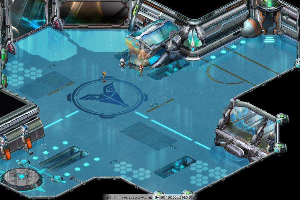 科幻太空战舰舱