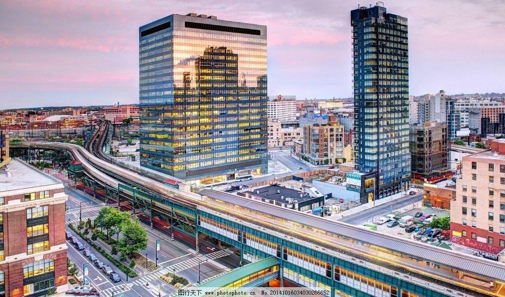 城市高楼 城市 城市建筑 航拍 鸟瞰 俯视 高架 城市傍晚 城市风光