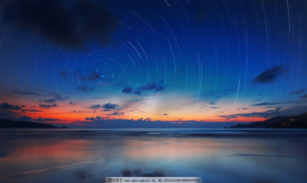 海滩 巴东海滩 普吉岛 泰国 星轨 夜景 夕阳 摄影 美景 摄影 自然景观