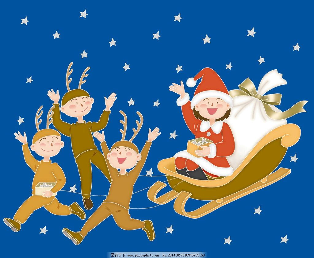 圣诞节 圣诞老人 过圣诞节啦 圣诞插画 插画 设计 动漫动画 动漫人物