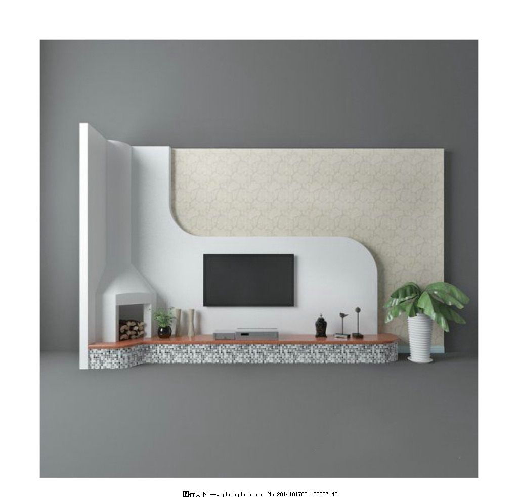 电视墙 地中海风格图片