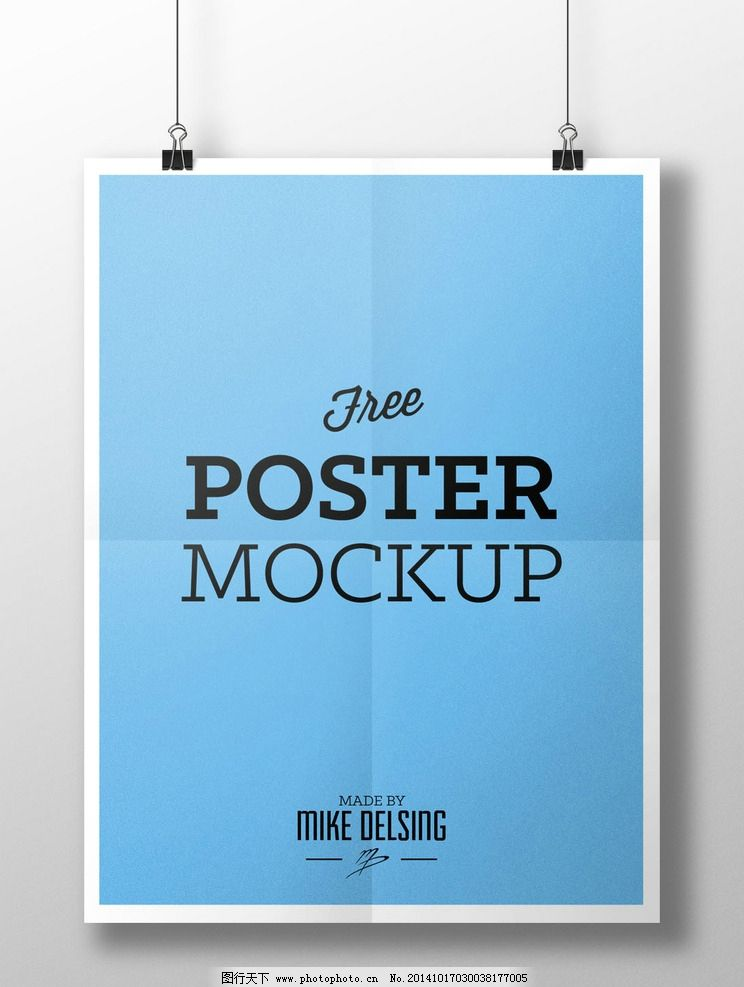国外海报样式效果展示图片
