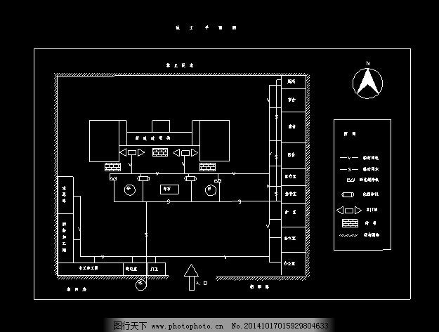 某工厂工程施工平面布置cad设计图重庆ui设计师就业前景图片