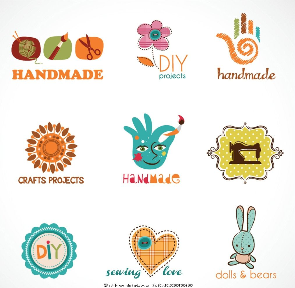 图标 标识 手工制作 创意图案 商业图标 公司图标 企业logo设计 eps