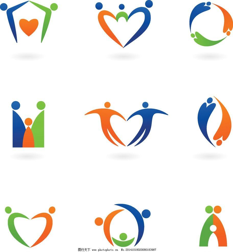 图标图片,标识 家庭 小人图标 创意图案 商业图标-图图片