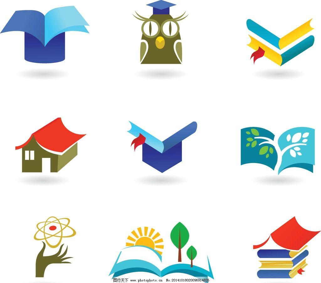 设计图库 标志图标 网页小图标  图标 标识 书本 课本 学习 创意图案图片