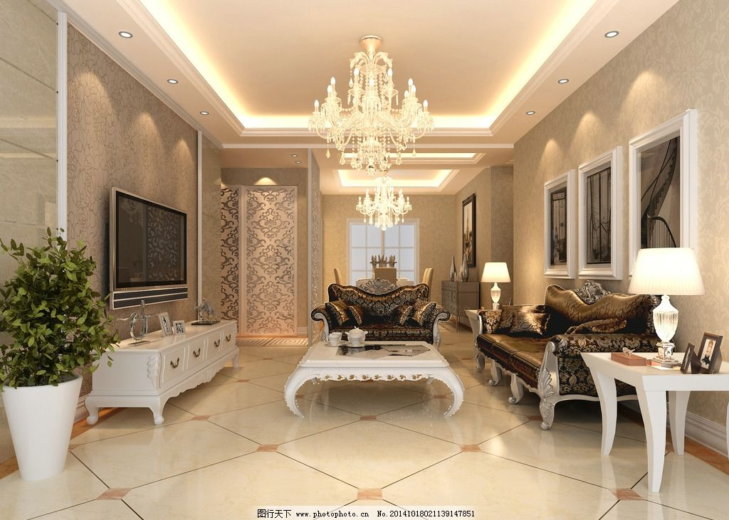 瓷砖 客厅效果图 灯具 地板 简欧效果图 室内设计 设计 3d设计 室内