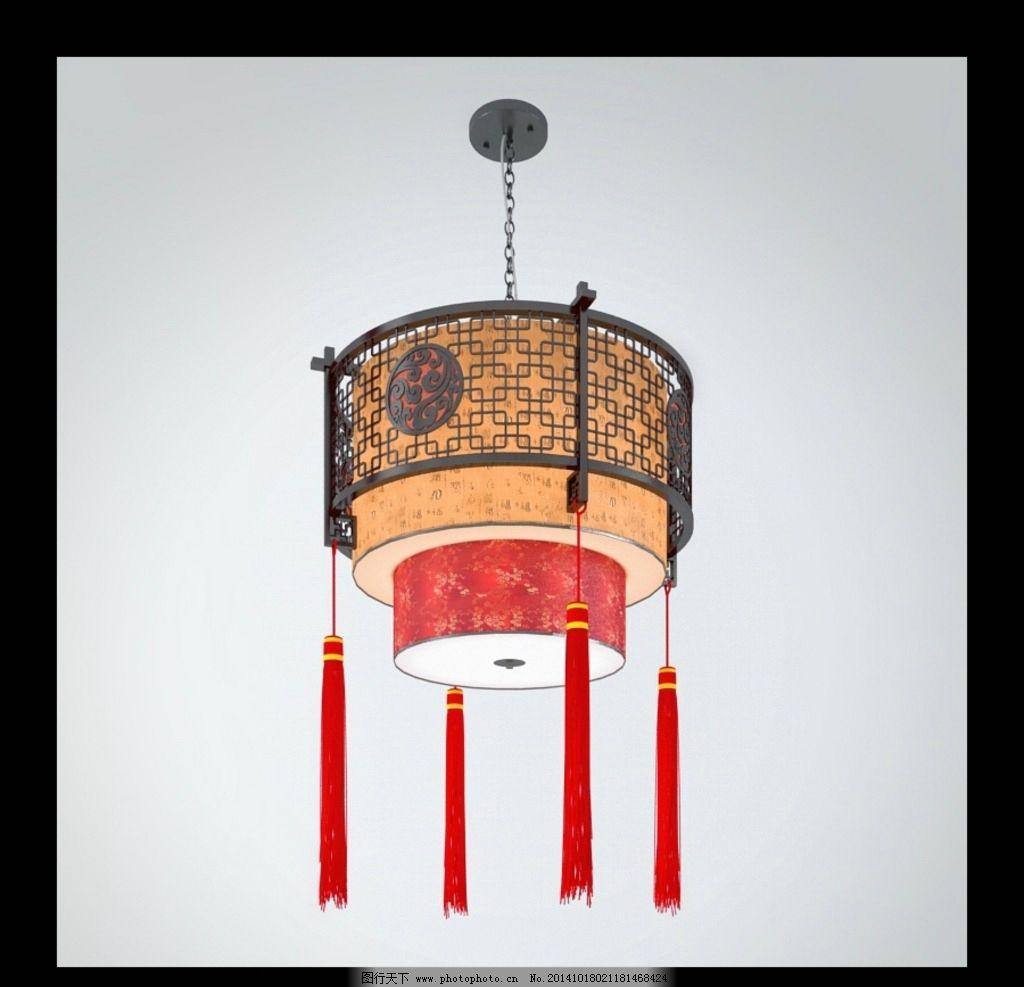 中式 吊灯 台灯 灯模型 灯具模型 室内模型 家装