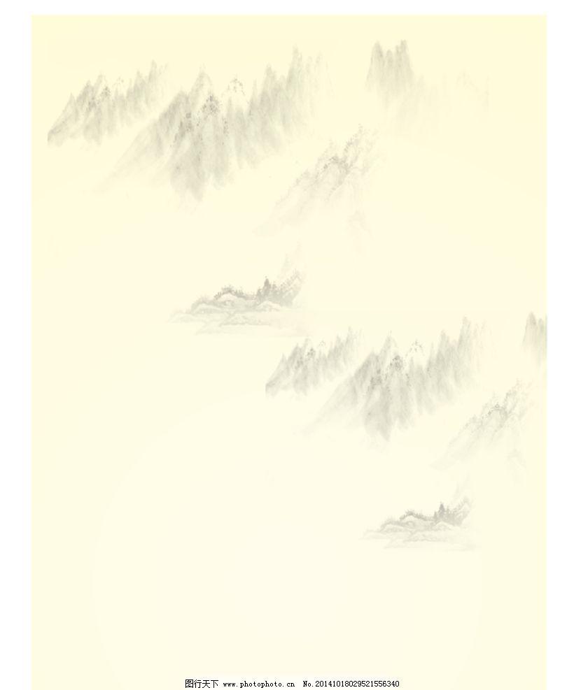淡雅山水背景图片