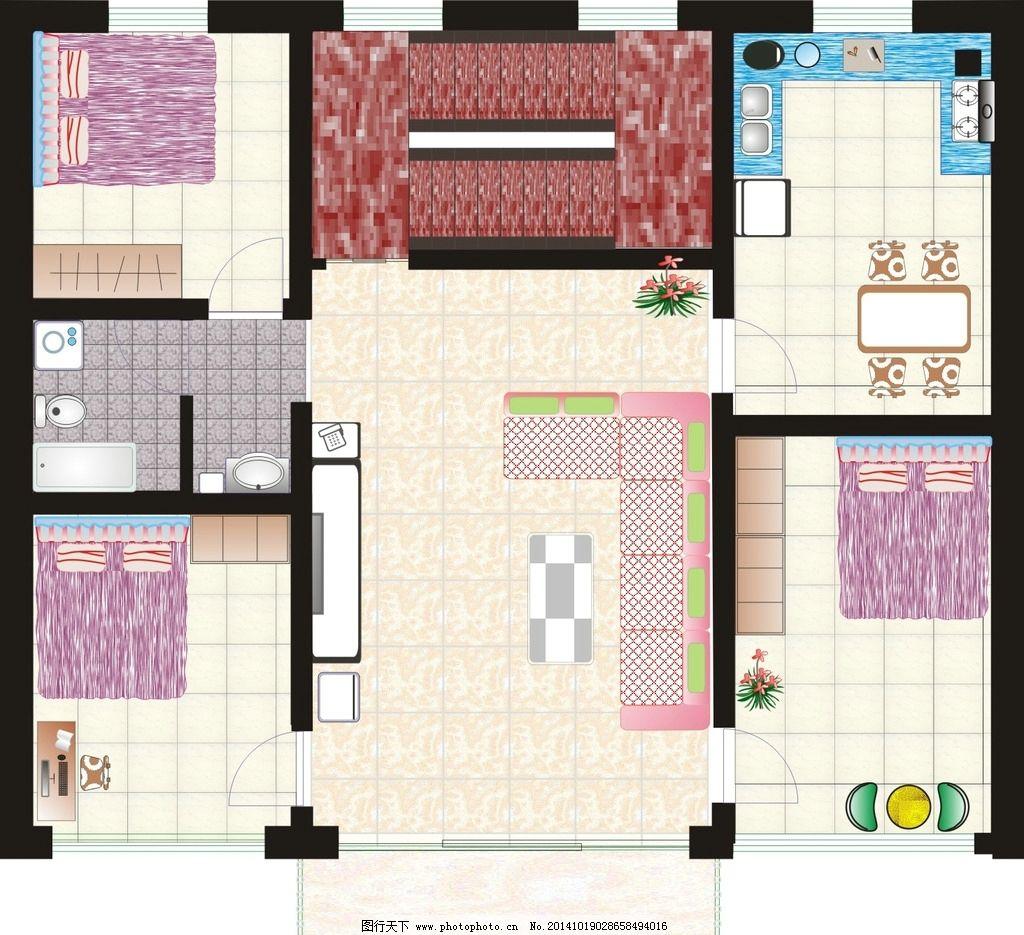 房屋设计 自建房 矢量图