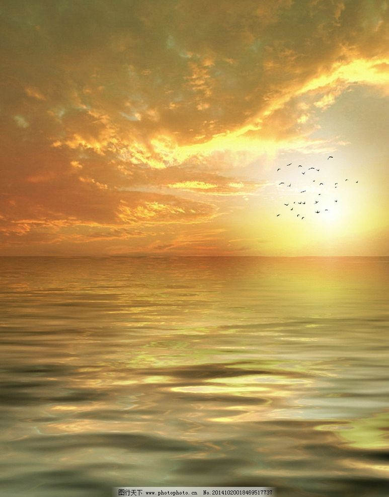 海边落日 日出 海景 朦胧