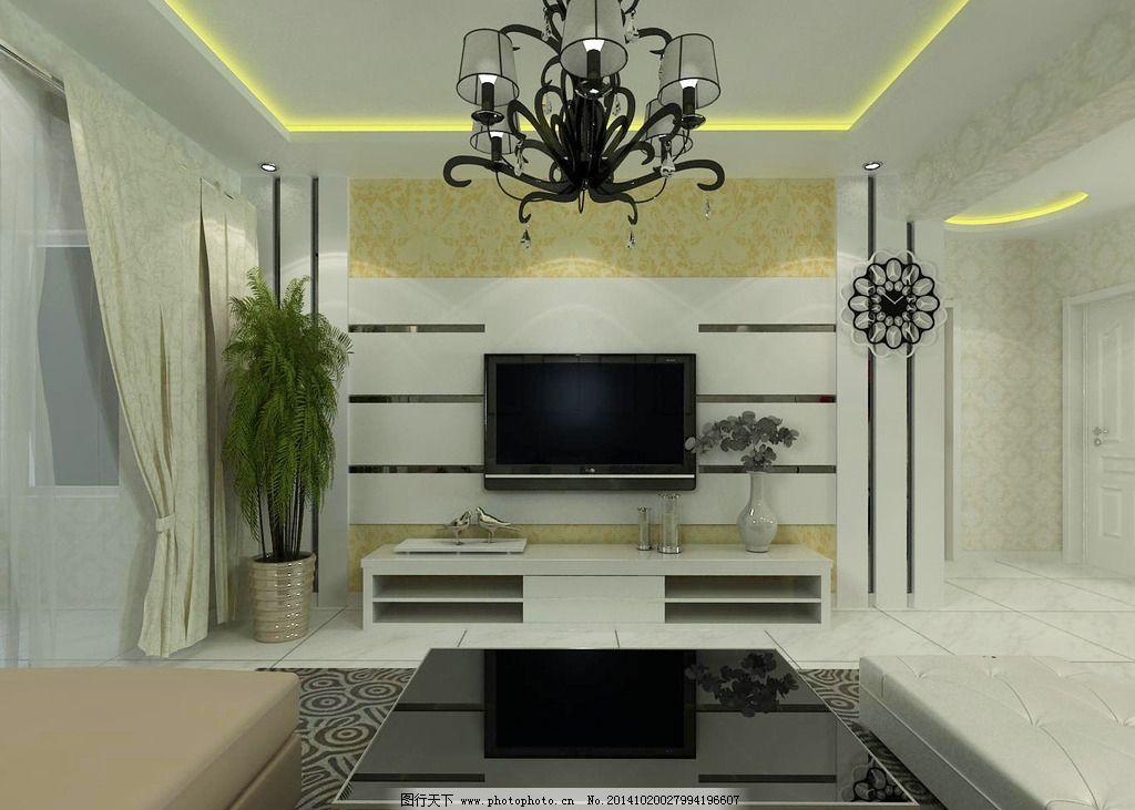 电视墙 客厅电视墙 客厅吊顶 吊顶  设计 环境设计 室内设计 72d