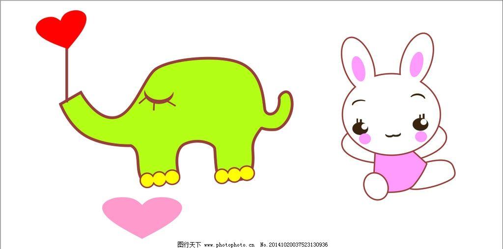 素材卡通兔 矢量素材 动物兔 兔子 卡通 设计 动漫动画 其他 cdr