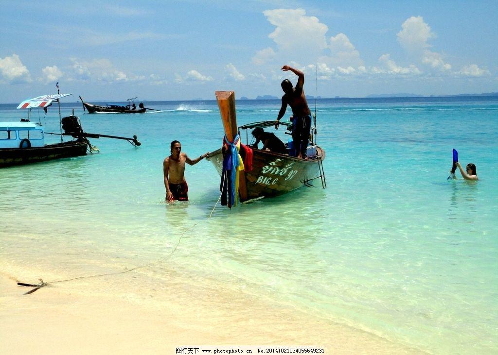 长尾船 泰国 船 海 海滩 皮皮岛 度假 泰国 摄影 旅游摄影 国外旅游