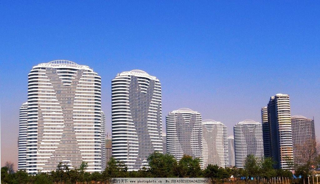东戴河 楼房 佳兆业 唯美建筑 灰色楼房 蓝天白云 海景房 海边 摄影