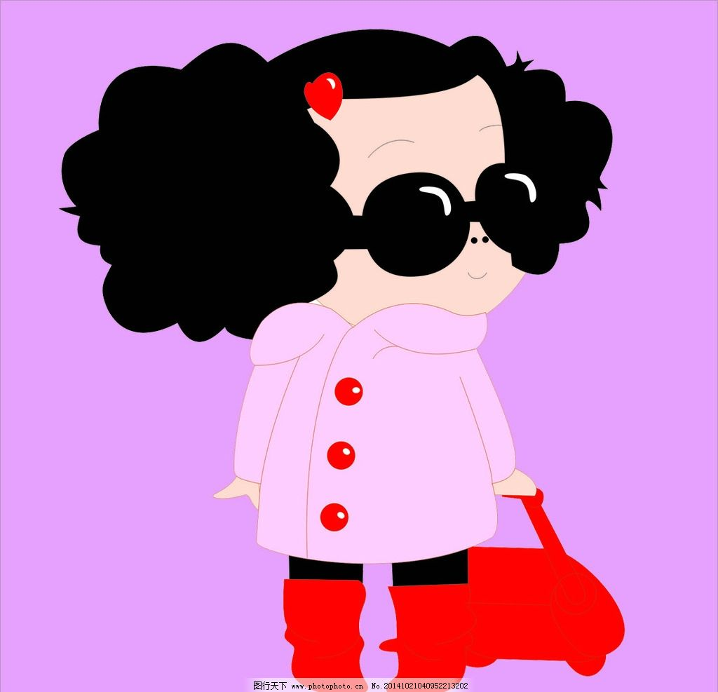可爱 娃娃 可爱娃娃 矢量娃娃 红色娃娃 人物 设计 人物图库 儿童幼