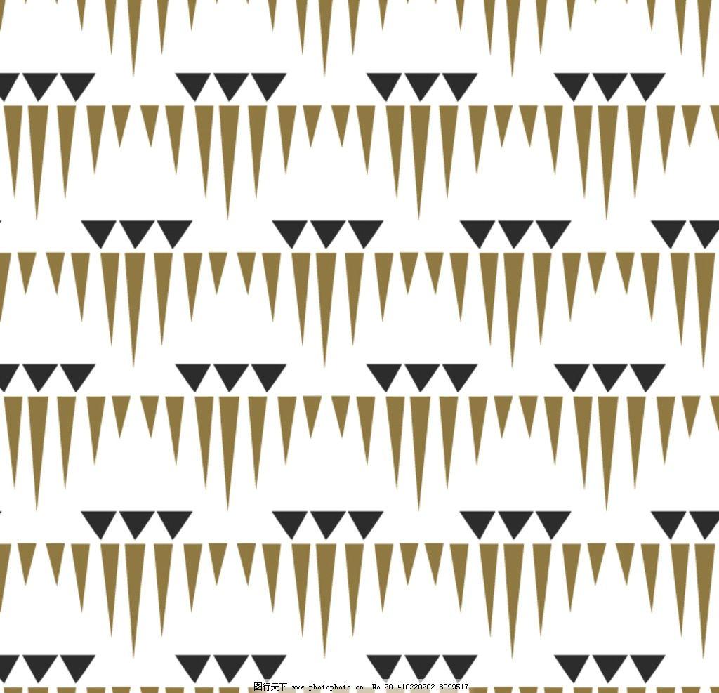 几何 三角形 循环 花型 白色 卡其 几何图形集 设计 底纹边框 背景图片