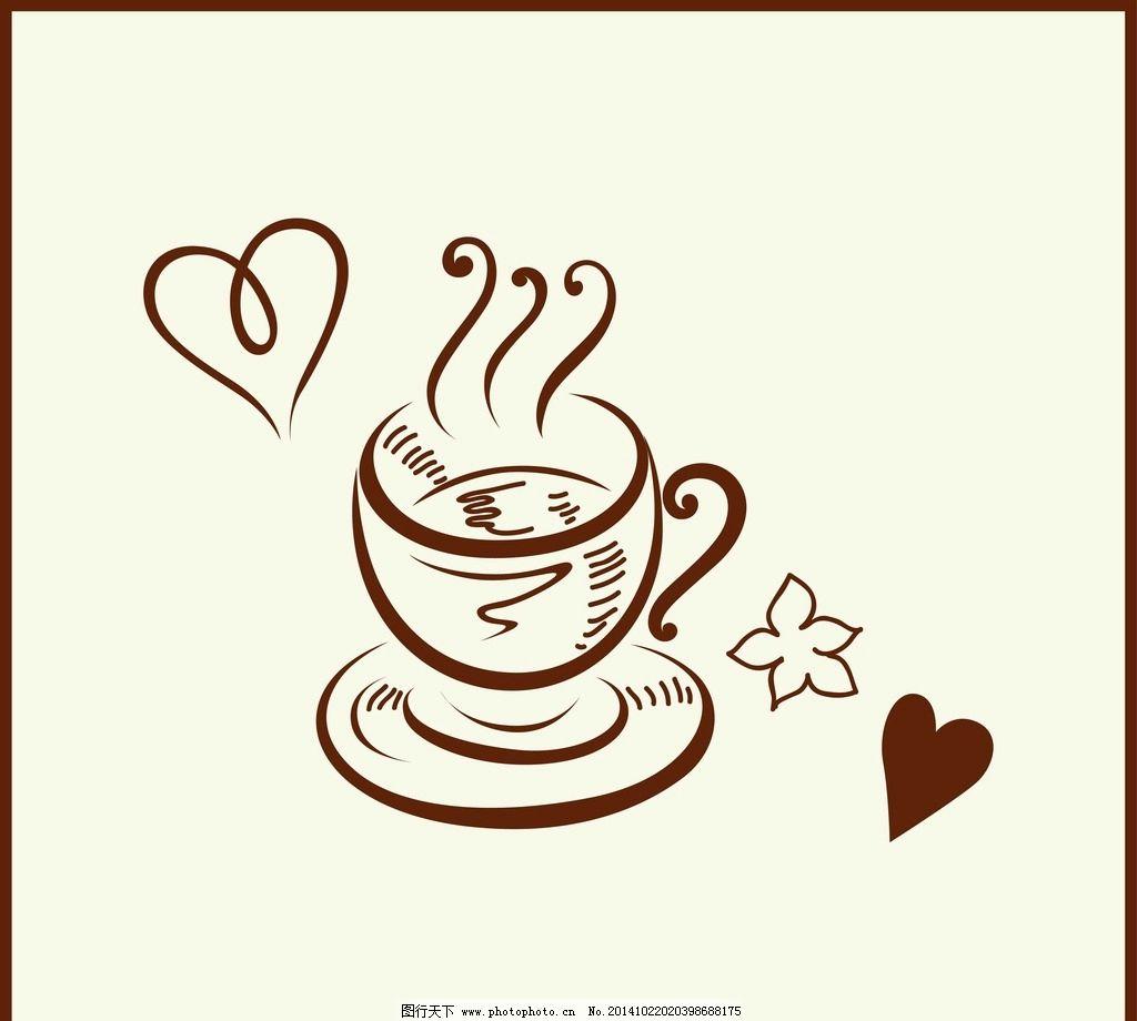 复古 手绘 咖啡 小资 古典花纹 咖啡杯 星巴克 古典插画 适量插画
