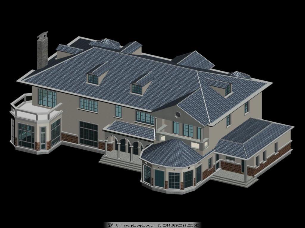 会所建筑模型