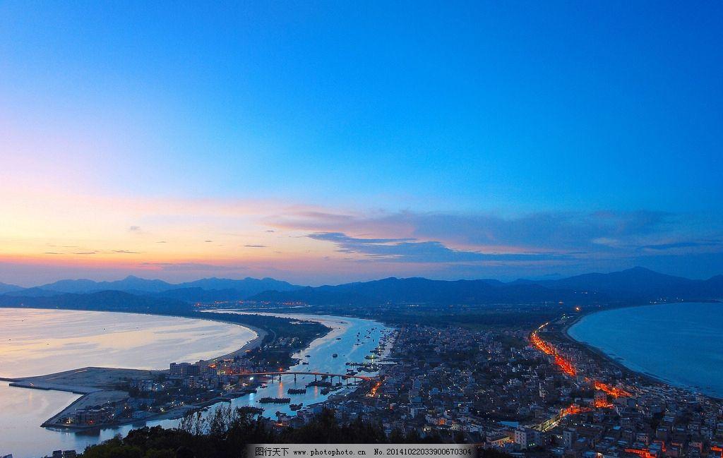 北戴河风光 秦皇岛 风景 自然 湿地 蓝天 夕阳 落日 日落 黄昏