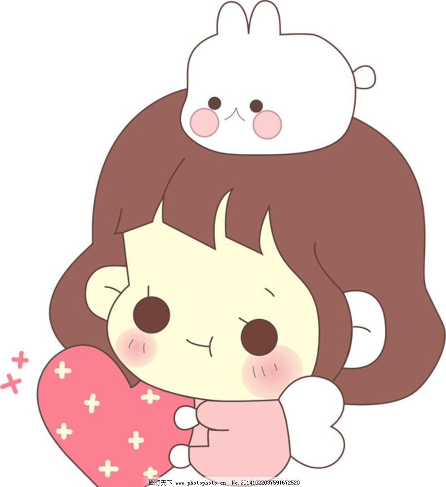 可爱卡通小萌妹图片,小孩 粉嫩 动漫动画 其他-图行