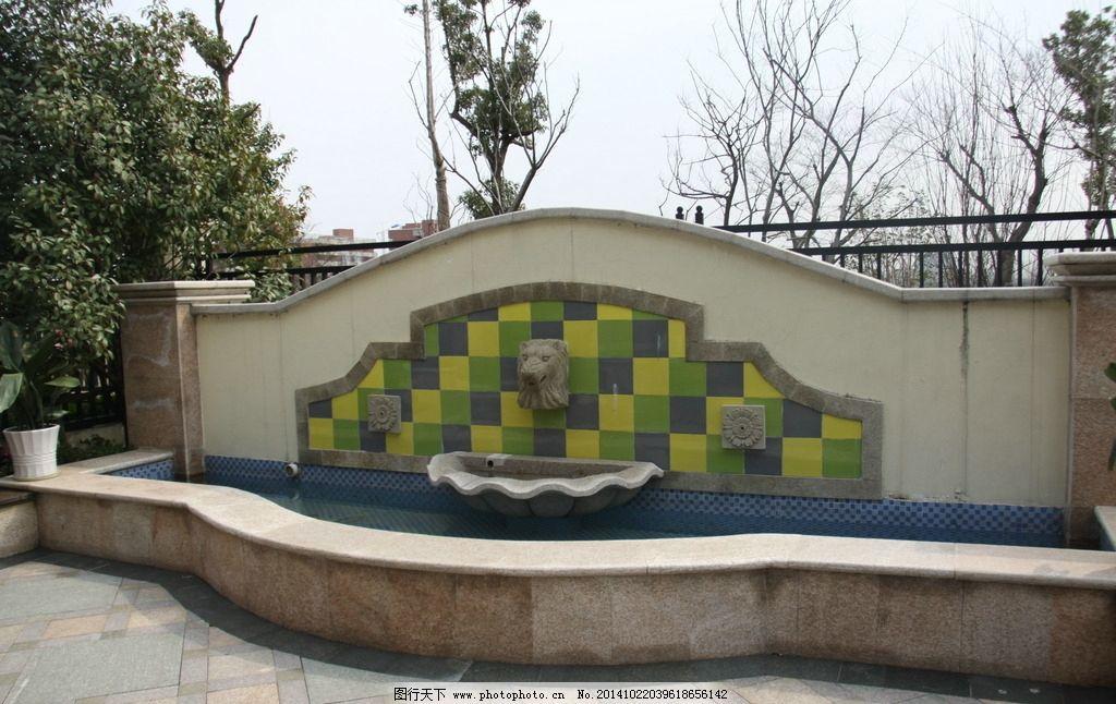 地产园林 地产喷水池 园林 地产 摄影  摄影 建筑园林 雕塑 72dpi jpg