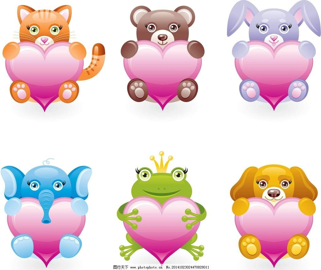 卡通动物 可爱卡通动物 矢量素材 卡通形象 童话动物 小猫 小狗