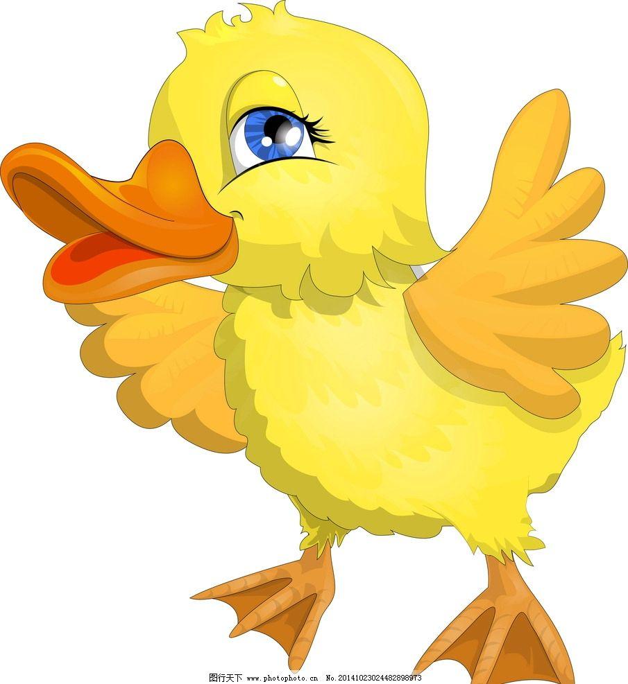 卡通小黄鸭图片