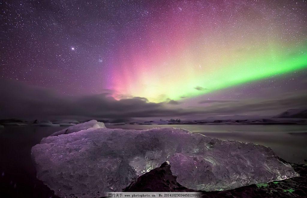 极光 光 夜景 彩色 北极 摄影 自然景观 山水风景 72dpi jpg