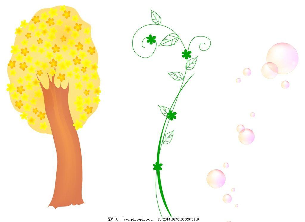 卡通 花边 树木图片