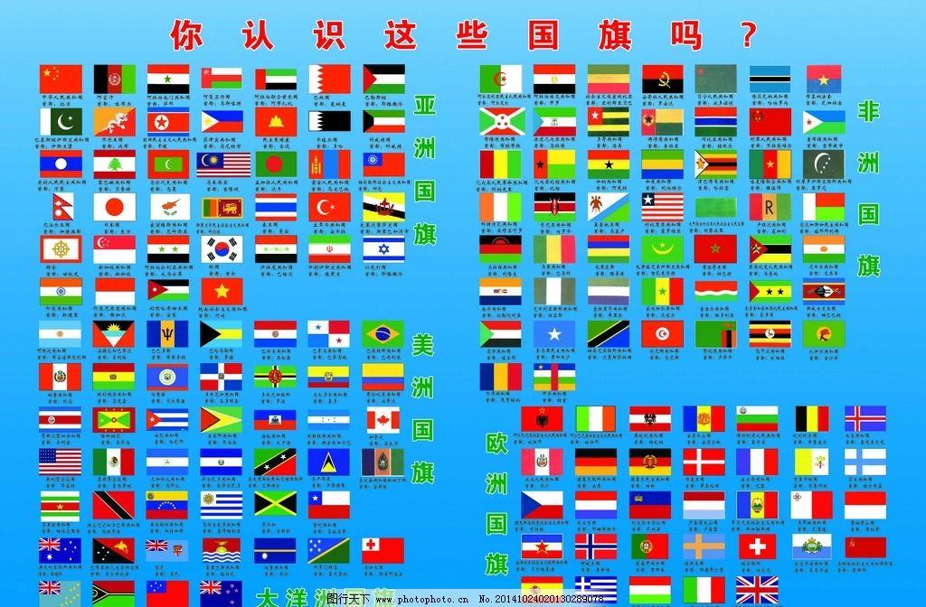 各国的国旗的样子