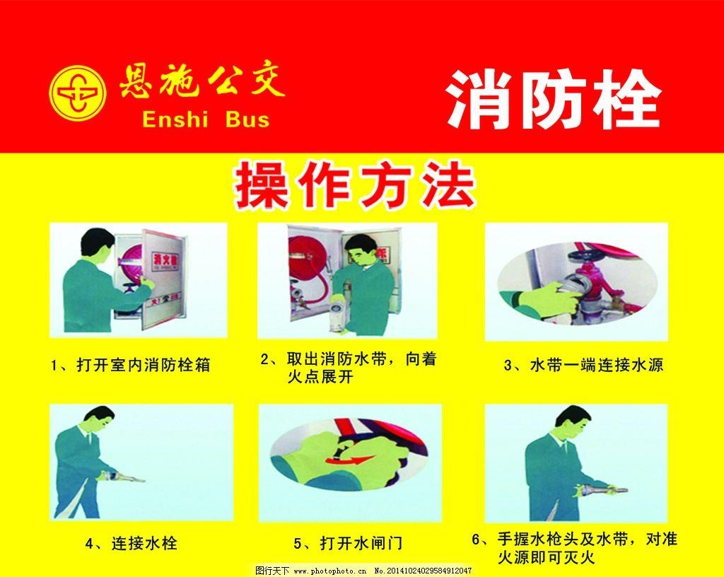 安全 消防栓 操作方法 消防 使用须知 使用步骤 设计 广告设计 广告