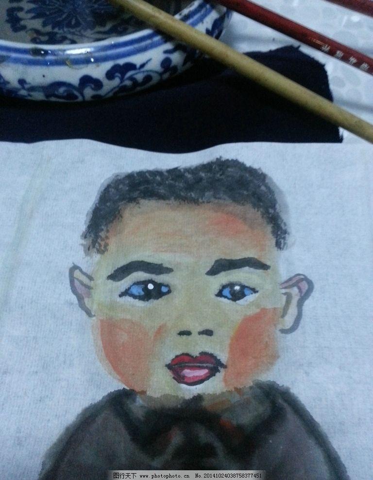 水墨画 小孩儿 儿童 中国画 韵味 水墨 小朋友 中国  摄影 文化艺术